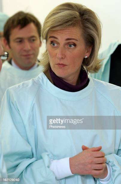 Princess Astrid of Belgium visiting the new IRM unit on the 20th anniversary of the Hospital of Liege
