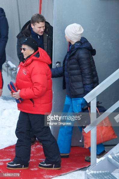 Princess Astrid of Norway and Princess MetteMarit of Norway attend FIS World Cup Nordic Holmenkollen 2013 on March 17 2013 in Oslo Norway