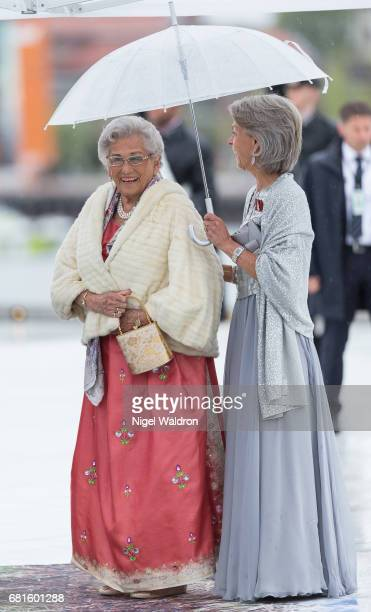Princess Astrid of Norway arrives at the Opera House on the occasion of the celebration of King Harald and Queen Sonja of Norway 80th birthdays on...
