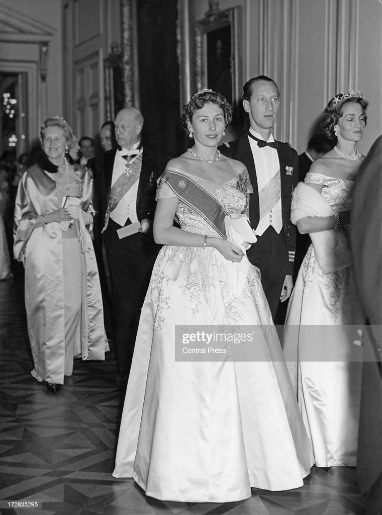Princess Astrid of Norway attends a banquet given by the Belgian government at the Royal Palace of Brussels 14th December 1960 The banquet is taking...