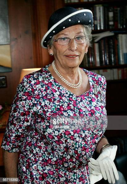 Princess Astrid of Norway attends a media briefing prior to the unveiling ceremony of the statue of her late mother Crown Princess Martha at the...