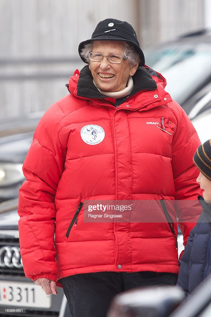 Princess Astrid of Norway attends FIS World Cup Nordic Holmenkollen 2013 on March 17, 2013 in Oslo, Norway.