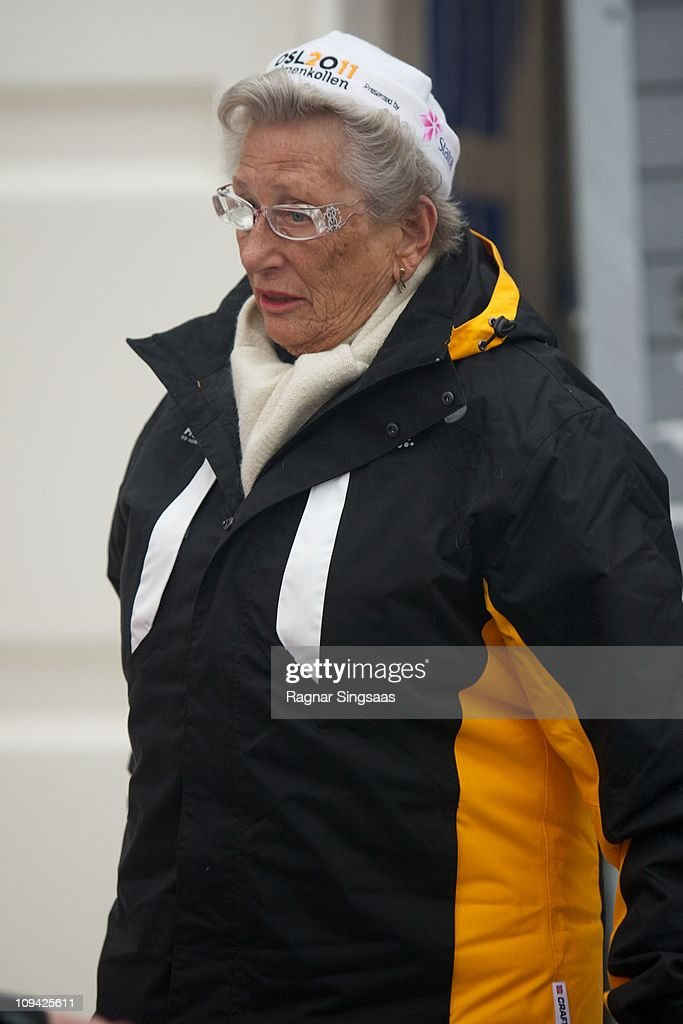 Princess Astrid of Norway attends the FIS Nordic World Ski Championship 2011 Ski Jumping Ladies at Holmenkollen on February 25 2011 in Oslo Norway