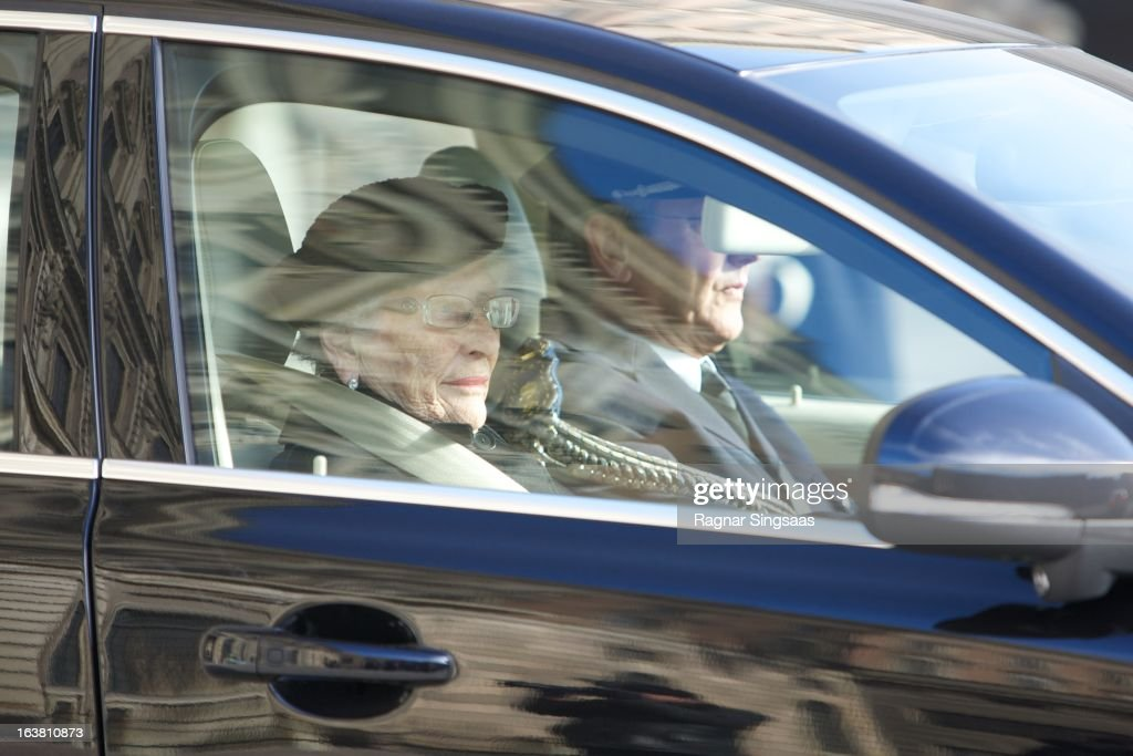 Princess Astrid of Norway attends the funeral of Princess Lilian Of Sweden on March 16 2013 in Stockholm Sweden
