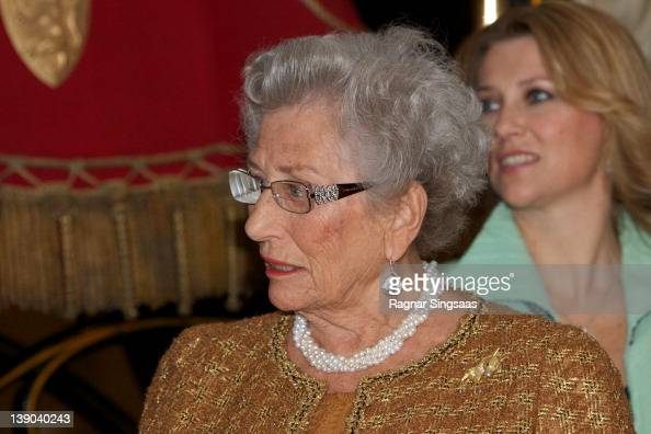 Princess Astrid of Norway attends the opening of the Jubilee Exhibition 'Royal journeys 1905 2005' at Kunstindustrimuseet on February 15 2012 in Oslo...