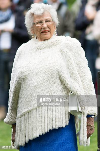 Princess Astrid of Norway attends the Opening of The Princess Ingrid Alexandra Sculpture Park on May 19 2016 in Oslo Norway