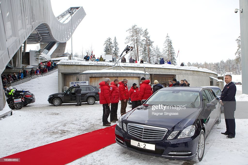 Princess Astrid of Norway Prince Sverre Magnus of Norway King Harald V of Norway Princess Ingrid Alexandra of Norway Queen Sonja of Norway and...