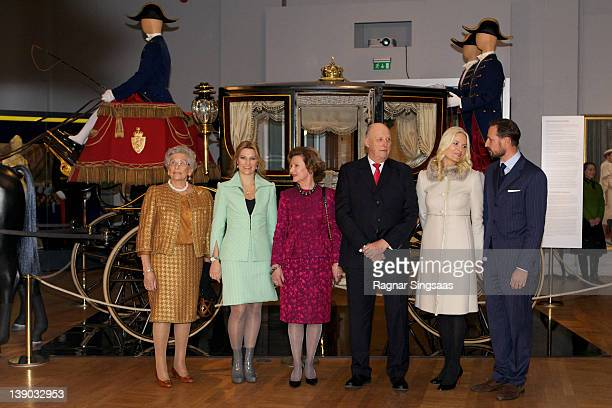 Princess Astrid of Norway Princess Martha Louise of Norway Queen Sonja of Norway King Harald V of Norway Princess MetteMarit of Norway and Prince...