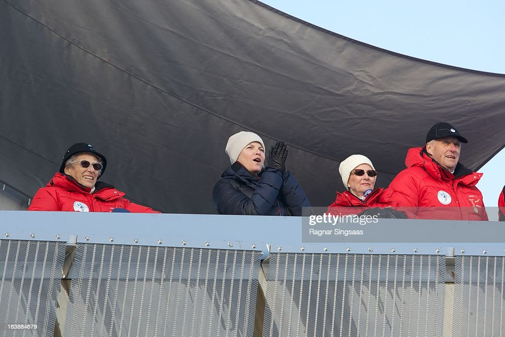 Princess Astrid of Norway Princess MetteMarit of Norway Queen Sonja of Norway and King Harald V of Norway attend FIS World Cup Nordic Holmenkollen...