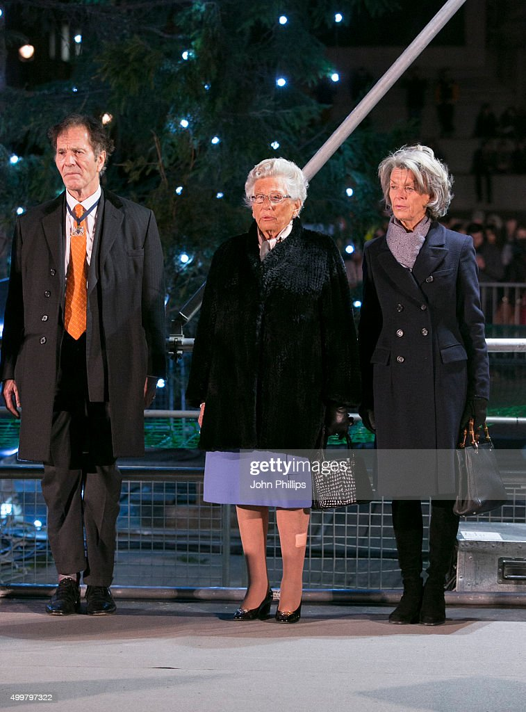 Princess Astrid Of Norway Turns On The Lights of the Trafalgar Square Christmas Tree at Trafalgar Square on December 3 2015 in London England