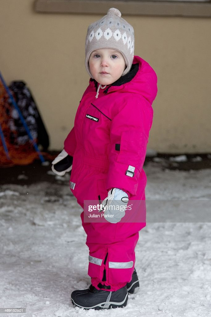 Princess Athena of Denmark poses during her annual winter family holiday photocall on February 13, 2014 in Villars-sur-Ollon, Switzerland.
