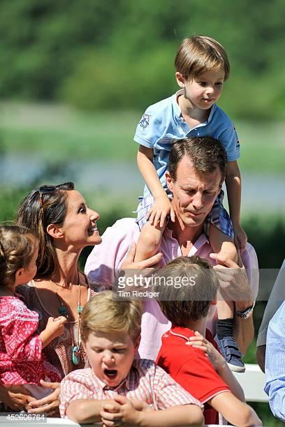 Princess Athena Princess Marie Prince Christian Prince Henrik Prince Joachim and Prince Felix attend the annual summer photo call for the Royal...