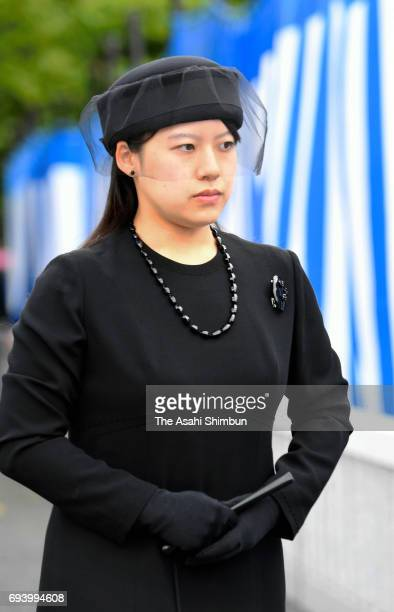 Princess Ayako of Takamado attends the memorial ceremony to commemorate the third anniversary of the death of Prince Katsura at Toshimagaoka Cemetery...