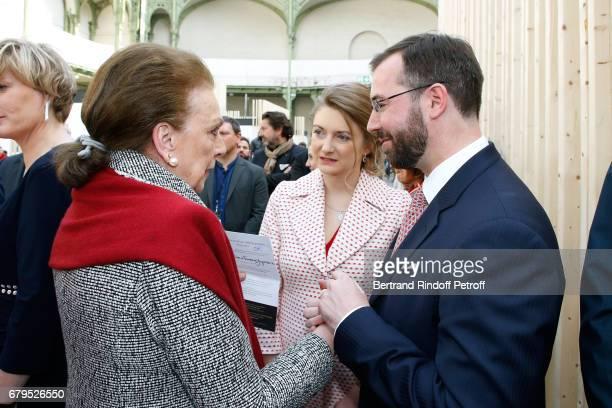 Princess Barbara de Yougoslavie GrandeDuchesse Heritiere Stephanie De Luxembourg and GrandDuc Heritier Guillaume De Luxembourg attend the...