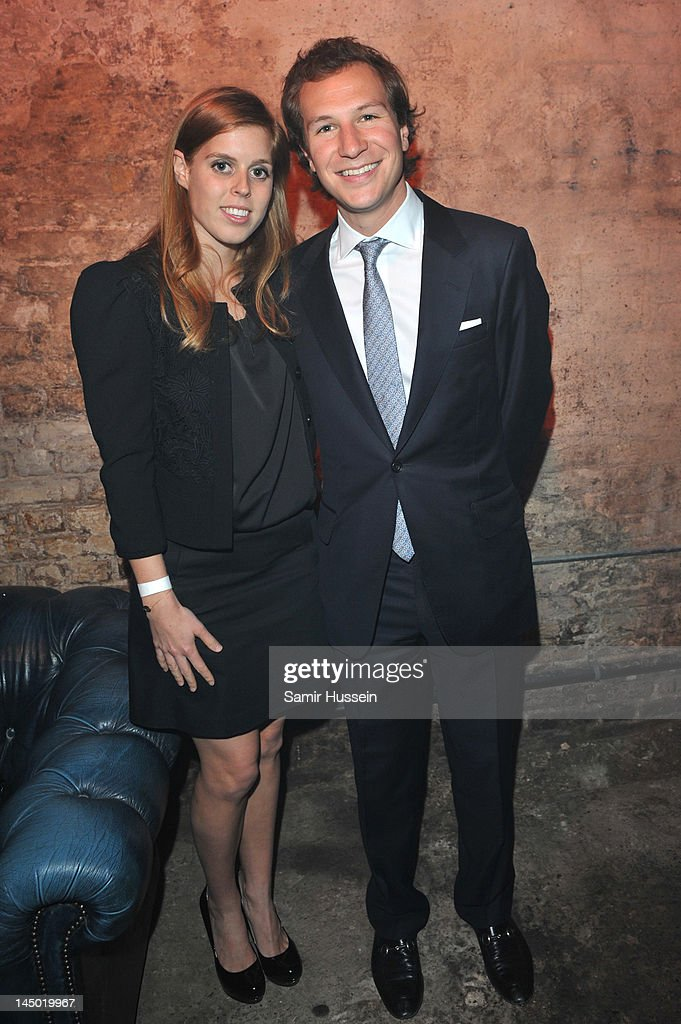 Princess Beatrice and Dave Clark arrive at 'A Night Out With The Millennium Network' at the Old Vic Tunnels, presented by The Clinton Foundations and The Reuben Foundation. The evening, hosted by Bill Clinton, Chelsea Clinton, Gwyneth Paltrow and Will i Am took place on the 22nd May 2012 in London, England.