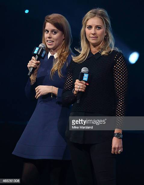 Princess Beatrice and Holly Branson attend We Day UK at Wembley Arena on March 5 2015 in London England