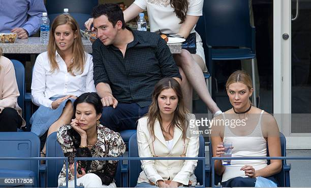 Princess Beatrice and Karlie Kloss seen at USTA Billie Jean King National Tennis Center on September 11 2016 in the Queens borough of New York City