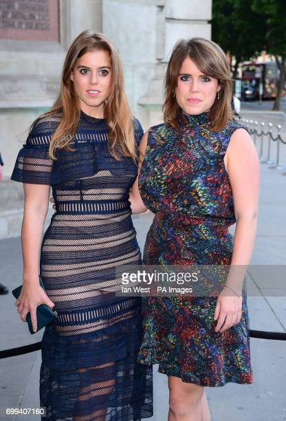 Princess Beatrice and Princess Eugenie attending the V and A Summer Party held at the Victoria Albert Museum London