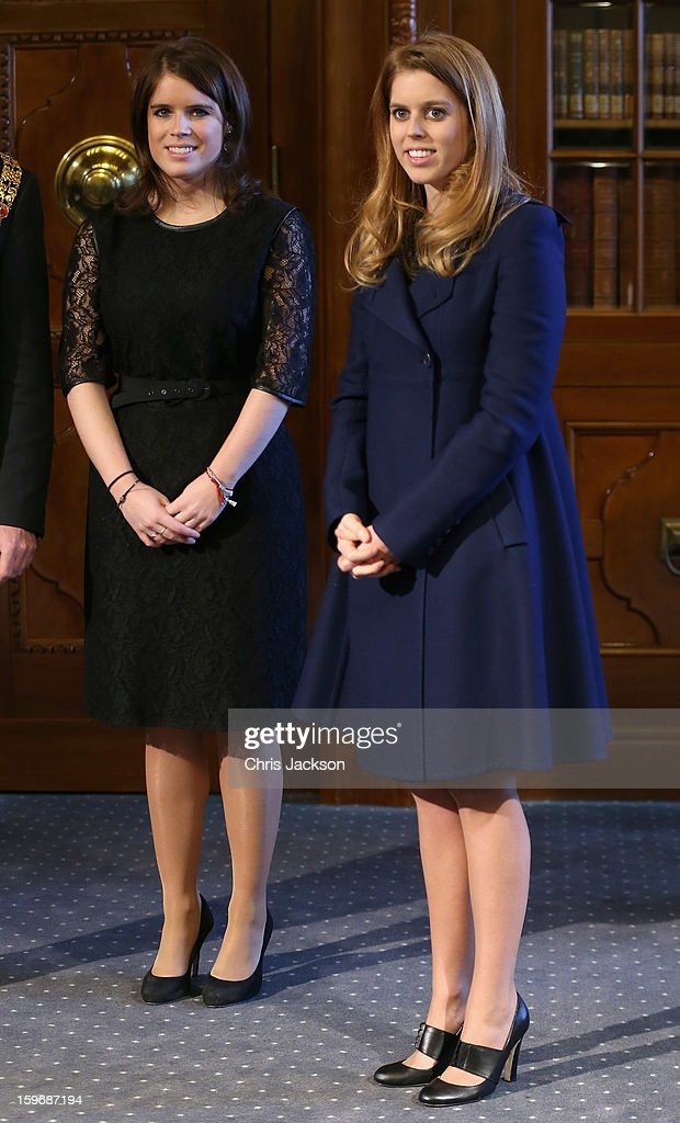 Princess Beatrice and Princess Eugenie listen to a speech by Mayor of Hanover Stephan Weil at Hanover City Hall on January 18, 2013 in Hanover, Germany. The royal sisters are in Hanover on the second day of a two day visit to Germany.Yesterday the royals were in Berlin helping support GREAT, the British Government's initiative promoting the UK abroad.