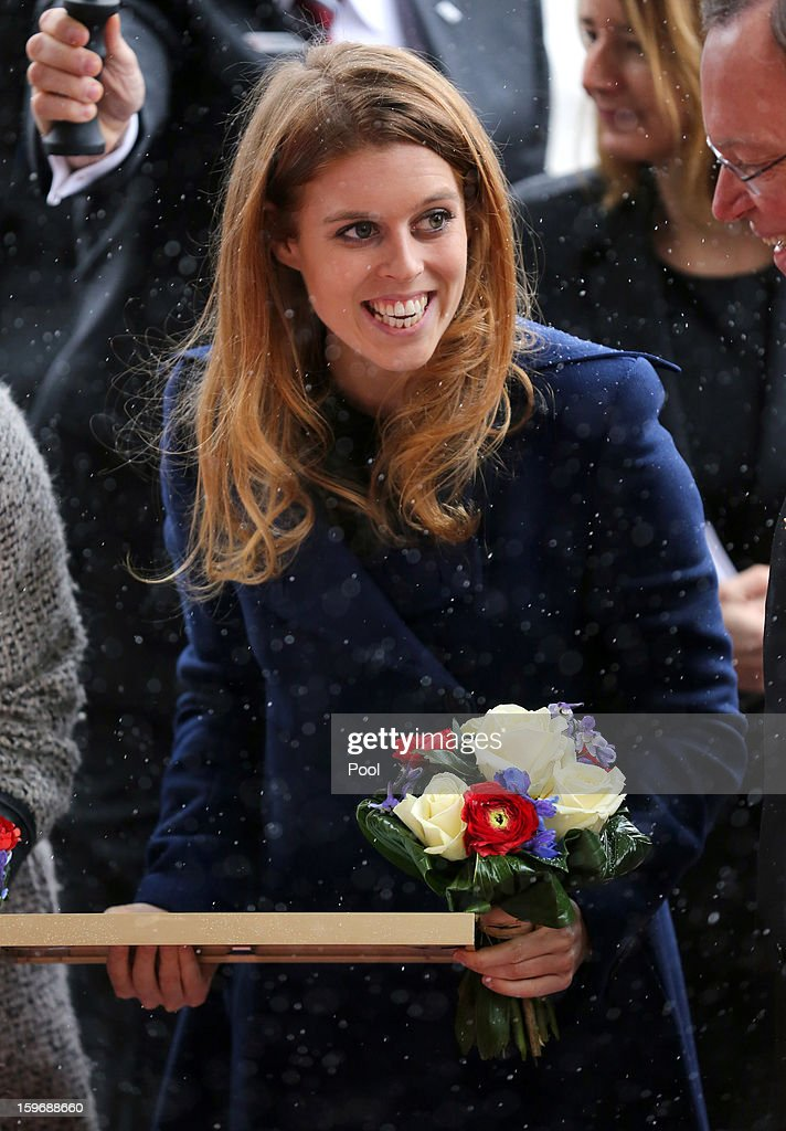 Princess Beatrice arrives at Hanover City Hall on January 18, 2013 in Hanover, Germany. The royal sisters are in Hanover on the second day of a two day visit to Germany.Yesterday the royals were in Berlin helping support GREAT, the British Government's initiative promoting the UK abroad.
