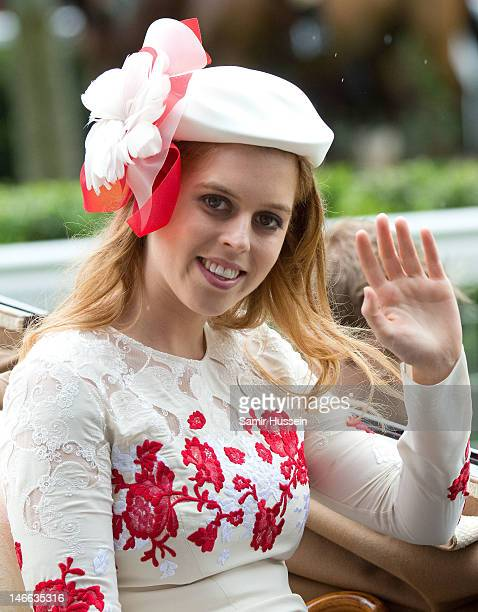Princess Beatrice arrives by carriage on Ladies Day of Royal Ascot 2012 at Ascot Racecourse on June 21 2012 in Ascot United Kingdom