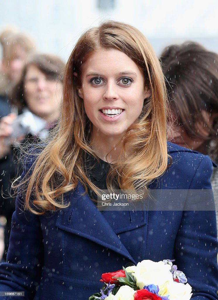 Princess Beatrice arrives in the snow at Hanover City Hall on January 18, 2013 in Hanover, Germany. The royal sisters are in Hanover on the second day of a two day visit to Germany.Yesterday the royals were in Berlin helping support GREAT, the British Government's initiative promoting the UK abroad.