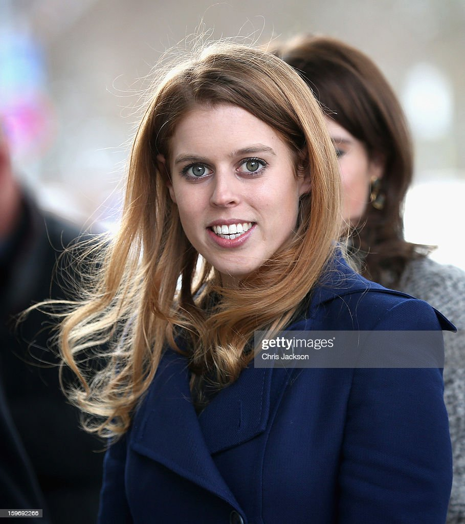 Princess Beatrice arrives to call on Minister David McAllister of Lower Saxony on January 18, 2013 in Hanover, Germany. The royal sisters are in Hanover on the second day of a two day visit to Germany. Yesterday the royals were in Berlin helping support GREAT, the British Government's initiative promoting the UK abroad.