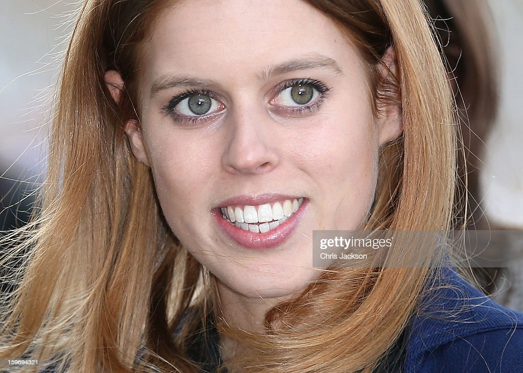 Princess Beatrice arrives to call on Minister David McAllister of Lower Saxony on January 18, 2013 in Hanover, Germany. The royal sisters are in Hanover on the second day of a two day visit to Germany.Yesterday the royals were in Berlin helping support GREAT, the British Government's initiative promoting the UK abroad.