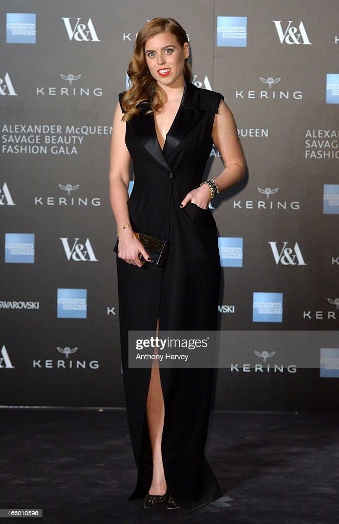Princess Beatrice attends a private view for the 'Alexander McQueen Savage Beauty' exhibition at Victoria Albert Museum on March 12 2015 in London...