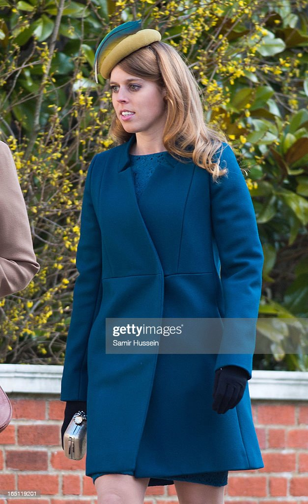 Princess Beatrice attends an Easter Matins Service at Saint George's Chapel in Windsor Castle on March 31, 2013 in Windsor, England.
