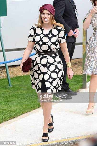 Princess Beatrice attends Derby Day at The Derby Festival on June 1 2013 in Epsom United Kingdom