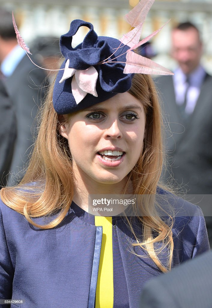 Princess Beatrice attends the annual Not Forgotten Association Garden Party, hosted by her father, The Duke of York at Buckingham Palace on May 26, 2016 in London, England.