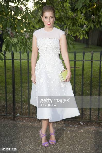 Princess Beatrice attends the annual Serpentine Galley Summer Party at The Serpentine Gallery on July 1 2014 in London England