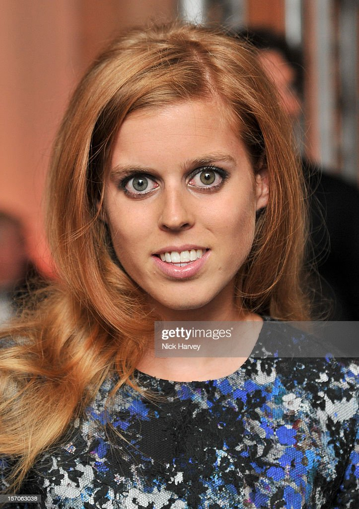 Princess Beatrice attends the British Fashion Awards 2012>> at The Savoy Hotel on November 27, 2012 in London, England.