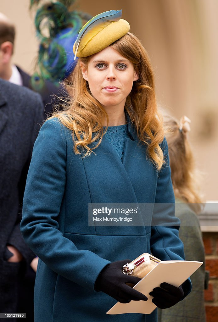 Princess Beatrice attends the Easter Matins Church Service at St George's Chapel, Windsor Castle on March 31, 2013 in Windsor, England.