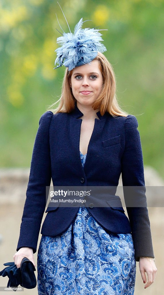 Princess Beatrice attends the Easter Matins service at St George's Chapel, Windsor Castle on April 5, 2015 in Windsor, England.