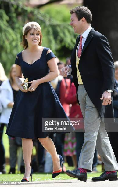 Princess Beatrice attends the wedding of Pippa Middleton and James Matthews at St Mark's Church on May 20 2017 in Englefield Green England