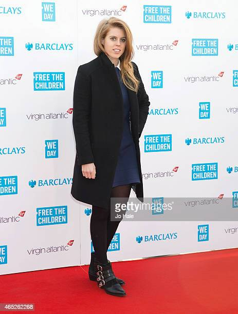 Princess Beatrice attends We Day UK at Wembley Arena on March 5 2015 in London United Kingdom