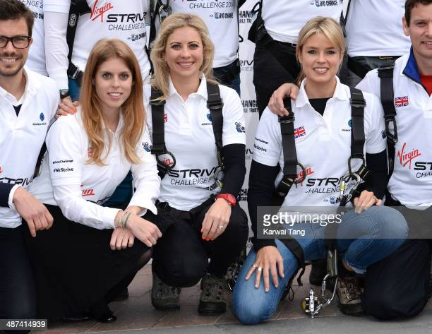 Princess Beatrice Holly Branson and Isabella Calthorpe attend a photocall to launch the Virgin STRIVE Challenge held at the 02 Arena on April 30 2014...