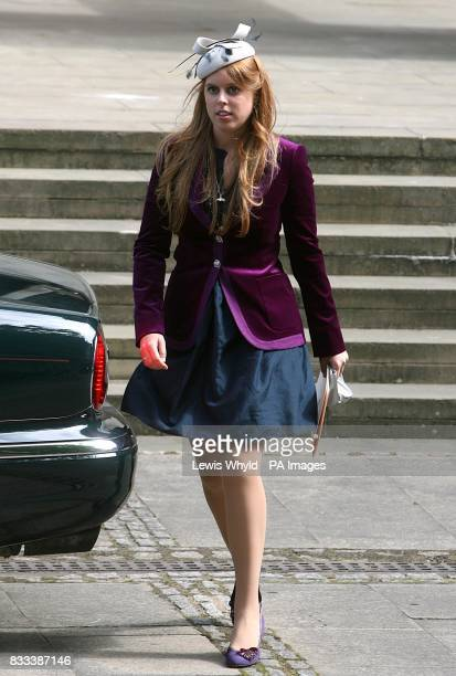 Princess Beatrice leaves the Service of Thanksgiving for the life of Diana Princess of Wales at the Guards' Chapel London PRESS ASSOCIATION Photo...