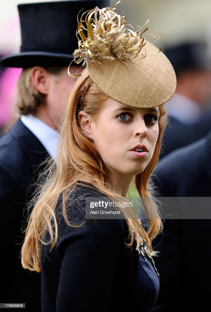 Princess Beatrice looks on as she attends Ladies' Day during day three of Royal Ascot at Ascot Racecourse on June 20, 2013 in Ascot, England.