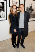 Princess Beatrice of York and Dave Clark attend a private view of Nikolai Von Bismarck's new photography exhibition 'In Ethiopia' at 12 Francis...