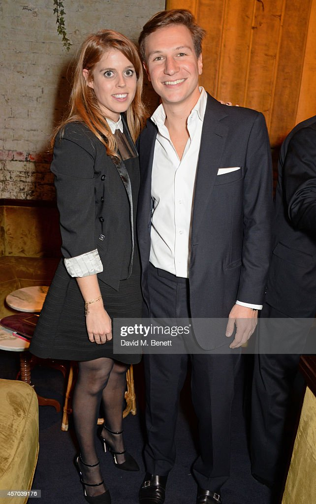 Princess Beatrice of York and Dave Clark attend the book launch party for 'How Google Works' by Eric Schmidt and Jonathan Rosenberg hosted by Jamie...