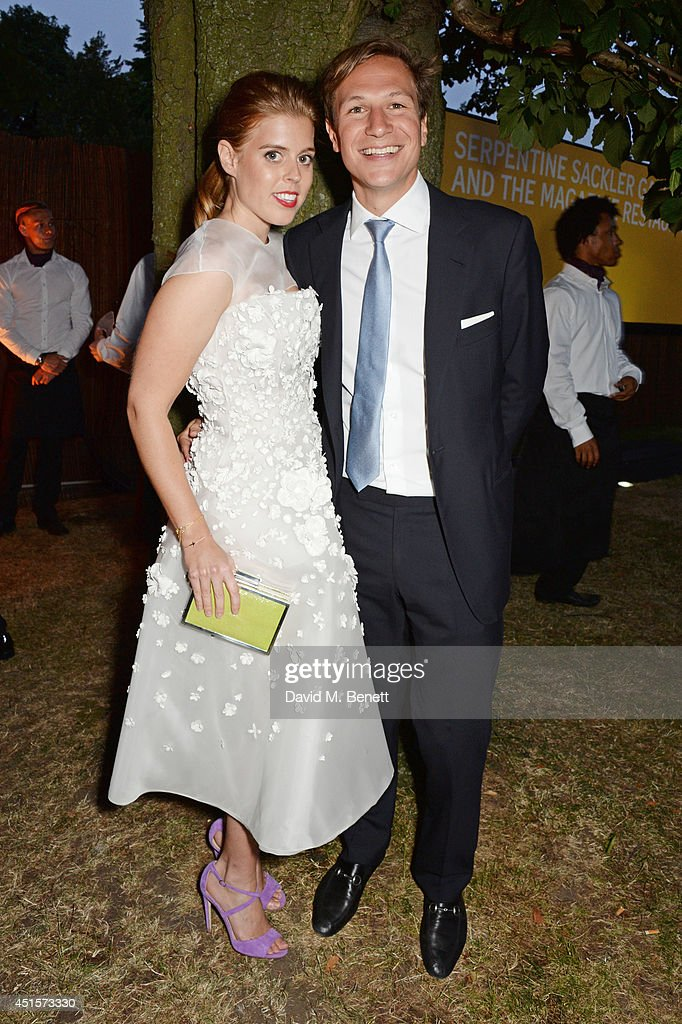 <a gi-track='captionPersonalityLinkClicked' href=/galleries/search?phrase=Princess+Beatrice+of+York&family=editorial&specificpeople=531999 ng-click='$event.stopPropagation()'>Princess Beatrice of York</a> (L) and Dave Clark attend The Serpentine Gallery Summer Party co-hosted by Brioni at The Serpentine Gallery on July 1, 2014 in London, England.