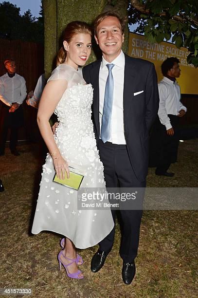 Princess Beatrice of York and Dave Clark attend The Serpentine Gallery Summer Party cohosted by Brioni at The Serpentine Gallery on July 1 2014 in...