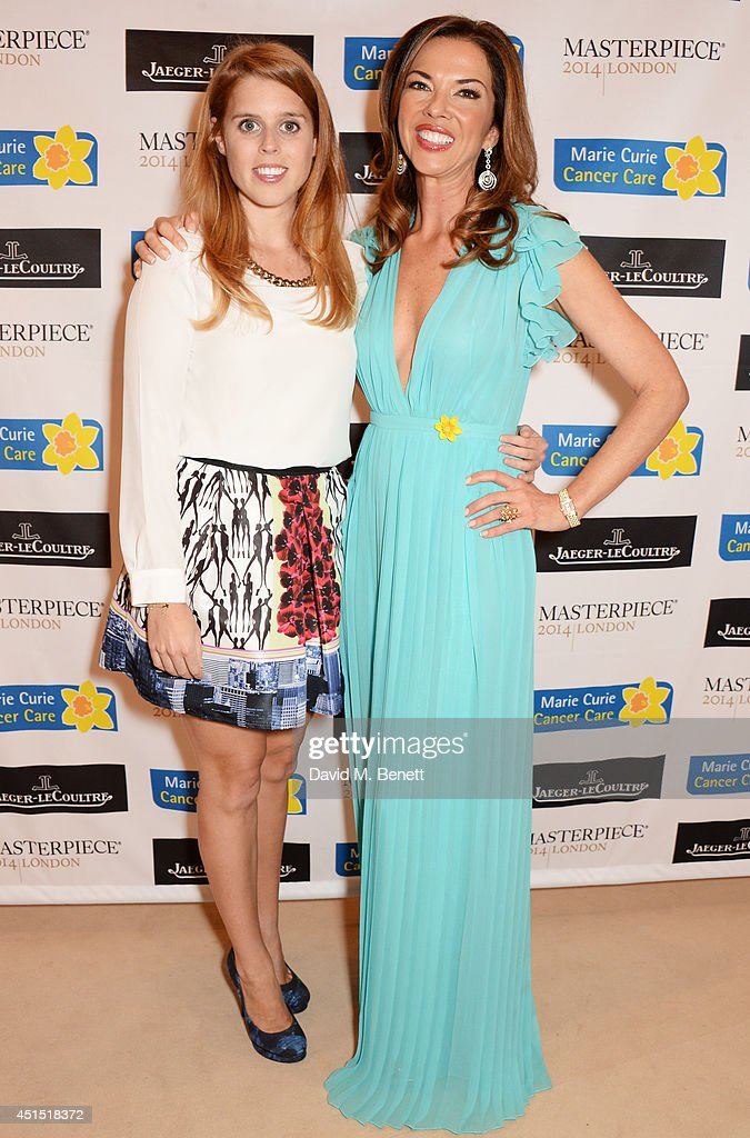 <a gi-track='captionPersonalityLinkClicked' href=/galleries/search?phrase=Princess+Beatrice+of+York&family=editorial&specificpeople=531999 ng-click='$event.stopPropagation()'>Princess Beatrice of York</a> (L) and <a gi-track='captionPersonalityLinkClicked' href=/galleries/search?phrase=Heather+Kerzner&family=editorial&specificpeople=614088 ng-click='$event.stopPropagation()'>Heather Kerzner</a> arrive at The Masterpiece Marie Curie Party supported by Jaeger-LeCoultre and hosted by <a gi-track='captionPersonalityLinkClicked' href=/galleries/search?phrase=Heather+Kerzner&family=editorial&specificpeople=614088 ng-click='$event.stopPropagation()'>Heather Kerzner</a> at The Royal Hospital Chelsea on June 30, 2014 in London, England.