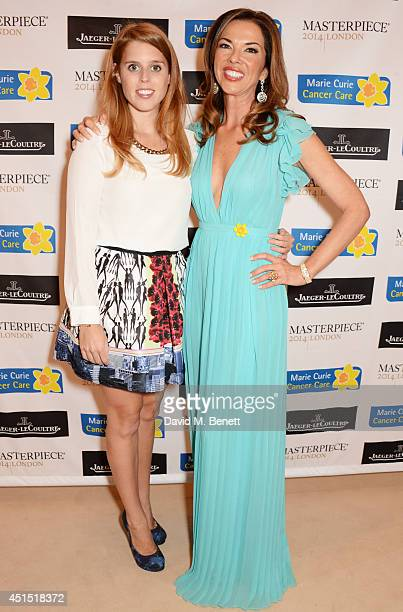 Princess Beatrice of York and Heather Kerzner arrive at The Masterpiece Marie Curie Party supported by JaegerLeCoultre and hosted by Heather Kerzner...
