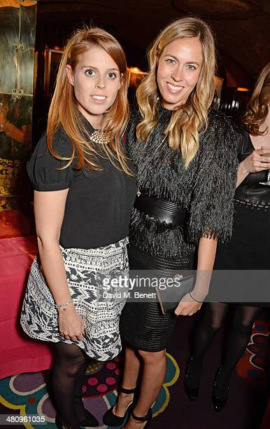 Princess Beatrice of York and Nina Flohr attend a private dinner hosted by Alice Naylor Leyland to celebrate the launch of 'Mrs Alice In Her Palace'...