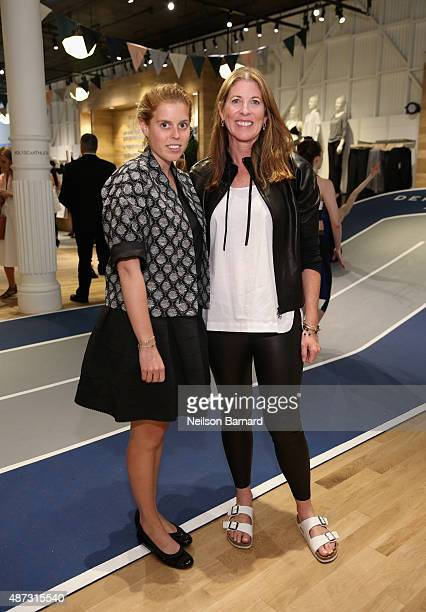 Princess Beatrice of York and President Athleta Nancy Green attend Derek Lam 10C Athleta launch party at Athleta's new Soho store on September 8 2015...
