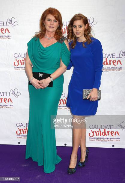 Princess Beatrice of York and Sarah Ferguson Duchess of York attend The Diamond Butterfly Ball in aid of Caudwell Children at Battersea Evolution on...